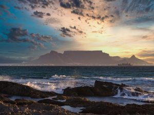 Cape Town, Table Mountain, sunset